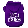 Mirage Pet Products Like a Boss Screen Print Pet Hoodies Purple Size XXL (18)