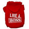 Mirage Pet Products Like a Boss Screen Print Pet Hoodies Red Size Med (12)