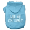 Mirage Pet Products Like my costume? Screen Print Pet Hoodies Baby Blue Size XL (16)