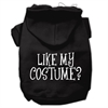 Mirage Pet Products Like my costume? Screen Print Pet Hoodies Black Size XS (8)