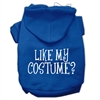 Mirage Pet Products Like my costume? Screen Print Pet Hoodies Blue Size XS (8)