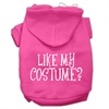 Mirage Pet Products Like my costume? Screen Print Pet Hoodies Bright Pink Size XXXL(20)