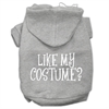 Mirage Pet Products Like my costume? Screen Print Pet Hoodies Grey Size XXXL(20)