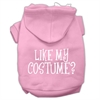 Mirage Pet Products Like my costume? Screen Print Pet Hoodies Light Pink Size XXXL(20)