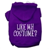 Mirage Pet Products Like my costume? Screen Print Pet Hoodies Purple Size XXXL(20)