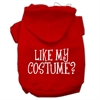 Mirage Pet Products Like my costume? Screen Print Pet Hoodies Red Size XXL (18)