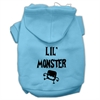 Mirage Pet Products Lil Monster Screen Print Pet Hoodies Baby Blue Size XS (8)