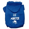 Mirage Pet Products Lil Monster Screen Print Pet Hoodies Blue Size Med (12)