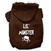 Mirage Pet Products Lil Monster Screen Print Pet Hoodies Brown Size Med (12)