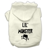 Mirage Pet Products Lil Monster Screen Print Pet Hoodies Cream Size XXL (18)
