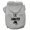 Mirage Pet Products Lil Monster Screen Print Pet Hoodies Grey Size Lg (14)
