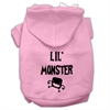 Mirage Pet Products Lil Monster Screen Print Pet Hoodies Pink Size Lg (14)