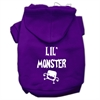 Mirage Pet Products Lil Monster Screen Print Pet Hoodies Purple Size Med (12)