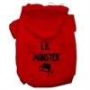 Mirage Pet Products Lil Monster Screen Print Pet Hoodies Red Size Med (12)
