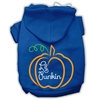 Mirage Pet Products Lil Punkin Screenprint Hoodie Blue XS (8)