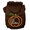 Mirage Pet Products Lil Punkin Screenprint Hoodie Brown XS (8)