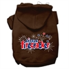 Mirage Pet Products Little Firecracker Screen Print Pet Hoodies Brown Size Sm (10)