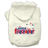 Mirage Pet Products Little Firecracker Screen Print Pet Hoodies Cream Size S (10)