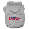 Mirage Pet Products Little Firecracker Screen Print Pet Hoodies Grey XXXL(20)