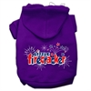 Mirage Pet Products Little Firecracker Screen Print Pet Hoodies Purple Size XXXL(20)