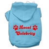 Mirage Pet Products Local Celebrity Screen Print Pet Hoodies Baby Blue Size XS (8)