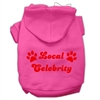 Mirage Pet Products Local Celebrity Screen Print Pet Hoodies Bright Pink Size Sm (10)