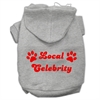Mirage Pet Products Local Celebrity Screen Print Pet Hoodies Grey Size XL (16)