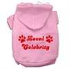 Mirage Pet Products Local Celebrity Screen Print Pet Hoodies Pink Size Med (12)