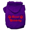 Mirage Pet Products Local Celebrity Screen Print Pet Hoodies Purple Size Med (12)