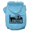 Mirage Pet Products London Skyline Screen Print Pet Hoodies Baby Blue Size Sm (10)