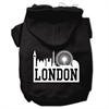 Mirage Pet Products London Skyline Screen Print Pet Hoodies Black Size XS (8)
