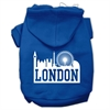 Mirage Pet Products London Skyline Screen Print Pet Hoodies Blue Size XS (8)