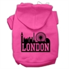 Mirage Pet Products London Skyline Screen Print Pet Hoodies Bright Pink Size Sm (10)