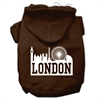 Mirage Pet Products London Skyline Screen Print Pet Hoodies Brown Size Sm (10)