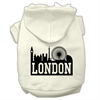 Mirage Pet Products London Skyline Screen Print Pet Hoodies Cream Size XS (8)