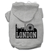 Mirage Pet Products London Skyline Screen Print Pet Hoodies Grey Size XL (16)