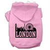Mirage Pet Products London Skyline Screen Print Pet Hoodies Light Pink Size Sm (10)