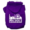 Mirage Pet Products London Skyline Screen Print Pet Hoodies Purple Size Sm (10)