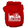 Mirage Pet Products London Skyline Screen Print Pet Hoodies Red Size Sm (10)