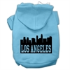 Mirage Pet Products Los Angeles Skyline Screen Print Pet Hoodies Baby Blue Size Sm (10)