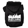 Mirage Pet Products Los Angeles Skyline Screen Print Pet Hoodies Black Size XXL (18)