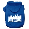 Mirage Pet Products Los Angeles Skyline Screen Print Pet Hoodies Blue Size XS (8)