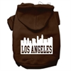 Mirage Pet Products Los Angeles Skyline Screen Print Pet Hoodies Brown Size Sm (10)