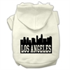 Mirage Pet Products Los Angeles Skyline Screen Print Pet Hoodies Cream Size XL (16)
