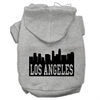 Mirage Pet Products Los Angeles Skyline Screen Print Pet Hoodies Grey Size XXL (18)
