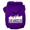 Mirage Pet Products Los Angeles Skyline Screen Print Pet Hoodies Purple Size XL (16)