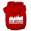 Mirage Pet Products Los Angeles Skyline Screen Print Pet Hoodies Red Size Sm (10)