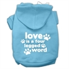 Mirage Pet Products Love is a Four Leg Word Screen Print Pet Hoodies Baby Blue Size Sm (10)