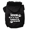 Mirage Pet Products Love is a Four Leg Word Screen Print Pet Hoodies Black Size XS (8)