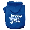 Mirage Pet Products Love is a Four Leg Word Screen Print Pet Hoodies Blue Size Sm (10)